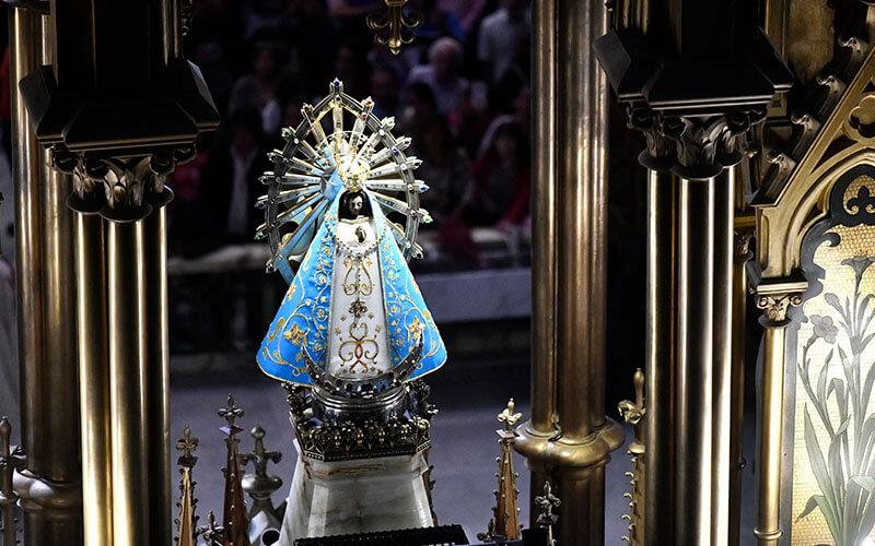 Virgen en vivo - Santuario de Luján