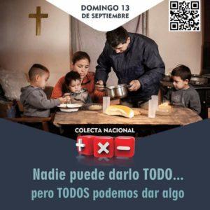 Colecta Mas por Menos. Flyer